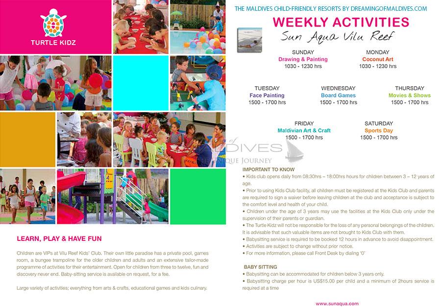Maldives family resorts Kids Club at Vilu Reef