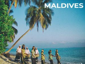 Maldives Vintage Photo Maldivian Ladies dancing and Bodu Boru on the beach