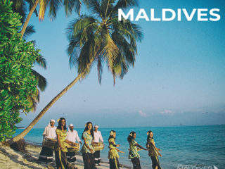 Maldives Vintage Photo Maldivian Ladies dancing and Bodu Boru on the beach