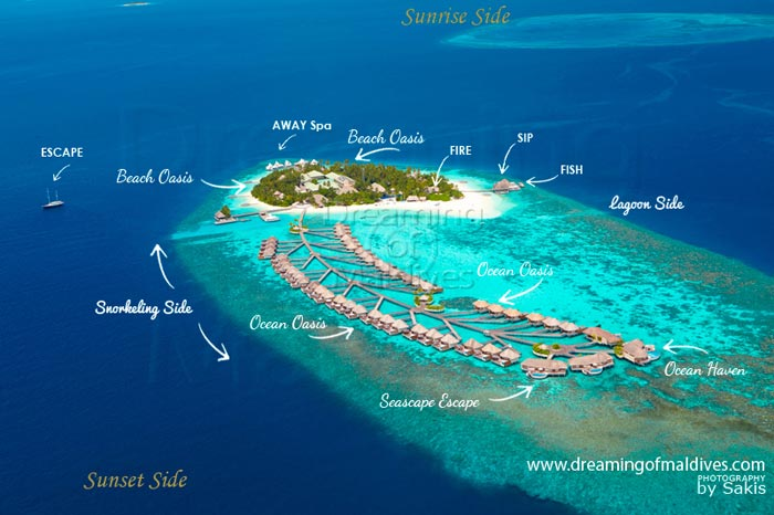 W Retreat Spa Maldives Resort Maps