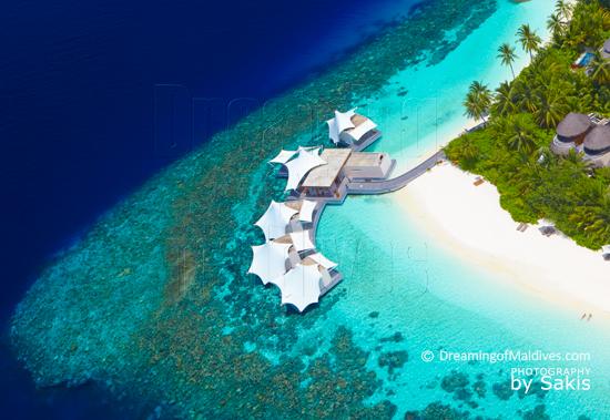 W Retreat and Spa Maldives Spa Aerial View
