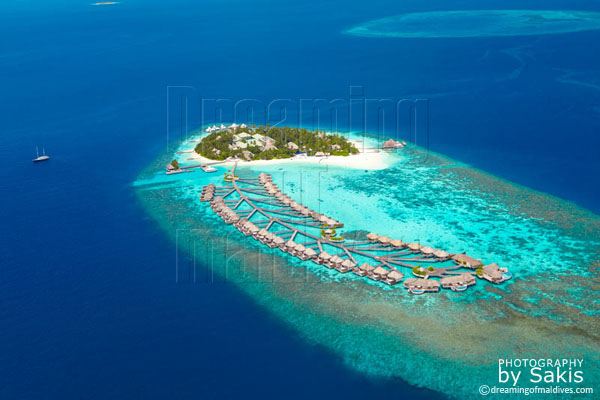 w retreat and spa maldives aerial view photo gallery