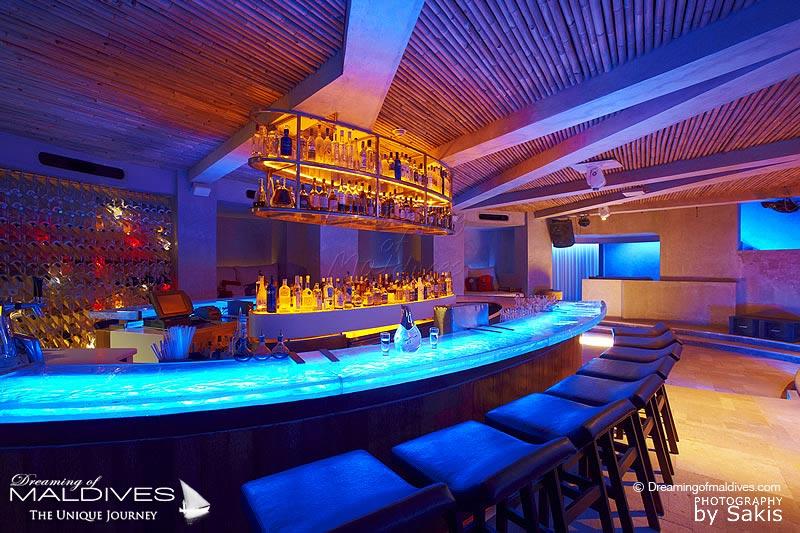 Glowing Bar at W Maldives 15 Below Night Club