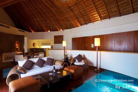 W Retreat & Spa Maldives- Ocean Haven Interior - The Living Room