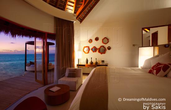 W Retreat & Spa Maldives- Ocean Haven Interior - Bedroom with a View