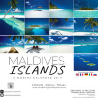 Wall Calendar 2019 Maldives islands