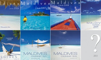 The New 2013 Wall Calendar of the Maldives Islands is (almost) ready !