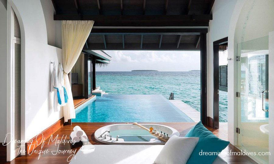 Water Villa with Pool at Anantara Kihavah Villas.