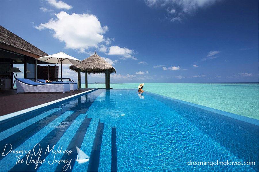 Water Villa with Pool at Velassaru Maldives.