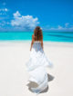 A Dreamy Wedding in Maldives on your own private Island. Bride in Paradise