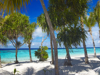 In which Maldives Resort was this photo taken? The Answer was : Jumeirah Dhevanafush