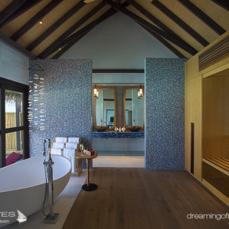 Wind Villa Bathroom OZEN at Maadhoo