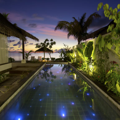 Sunset View From the Pool in a Earth Villa With Pool OZEN at Maadhoo.