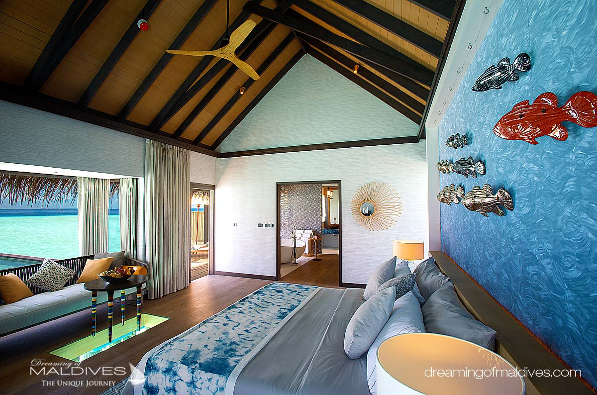 Ozen at Maadhoo Maldives. Water Villa Interior