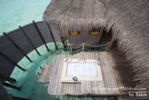 The Jaccuzzi at world largest water villa maldives private reserve resort gili lankanfushi