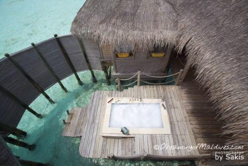 The Jaccuzzi at world largest water villa maldives private reserve resort gili lankanfushi