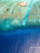 Maldives Atoll Outer Reefs. Aerial view
