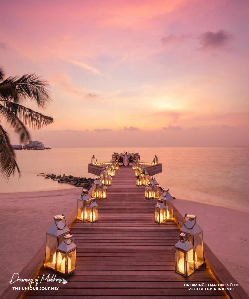 Sunset Dinner at LUX* North Male Maldives