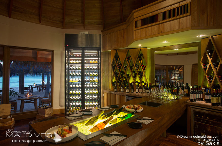 Milaidhoo The wine room at Shoreline Grill