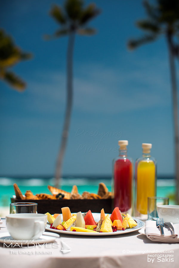 Milaidhoo Breakfast on your Villa Deck