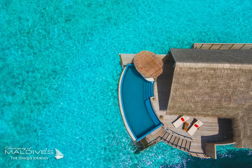 Milaidhoo Water Pool Villa Aerial View