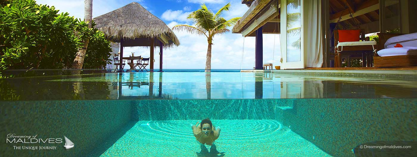 Naladhu Maldives over-water retreat infinity pool