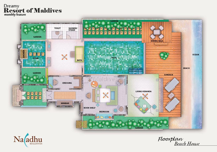 Naladhu Maldives Beach Houses With Pool Floor Plan