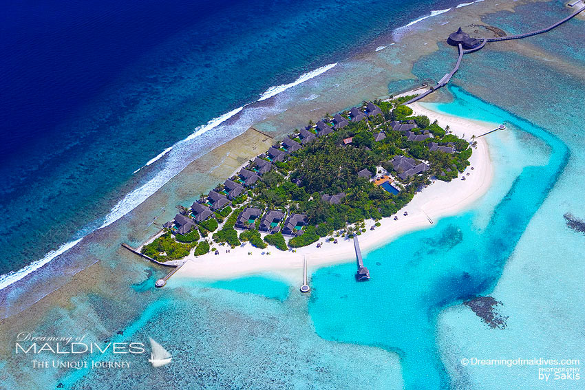 Naladhu Maldives  - Resort Aerial View