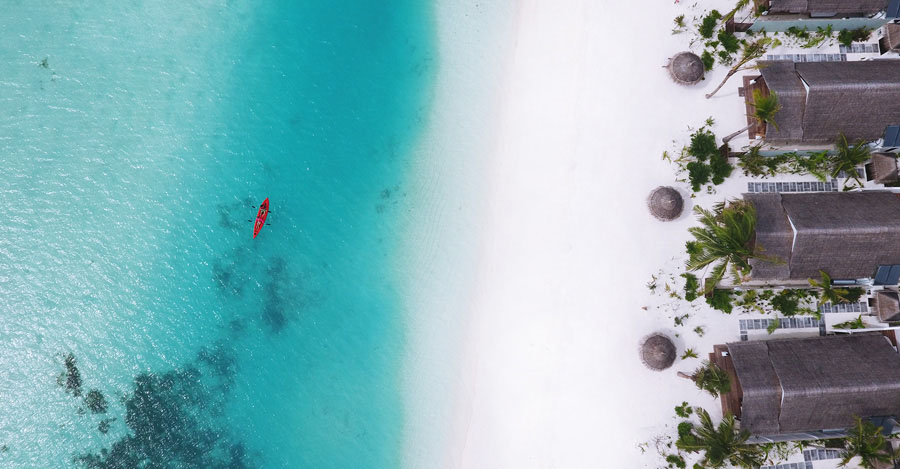 OZEN at Maadhoo Maldives Aerial View