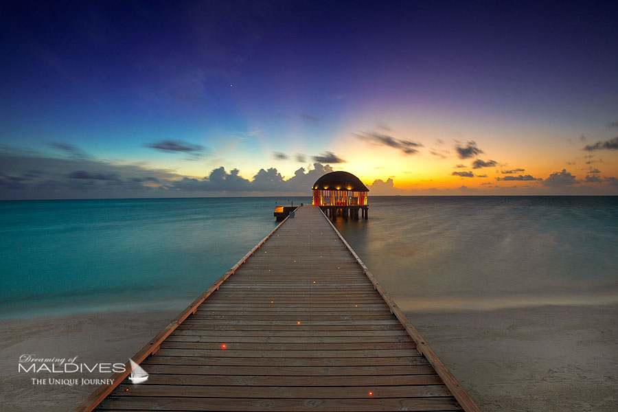 OZEN at Maadhoo Maldives Jetty at Sunset