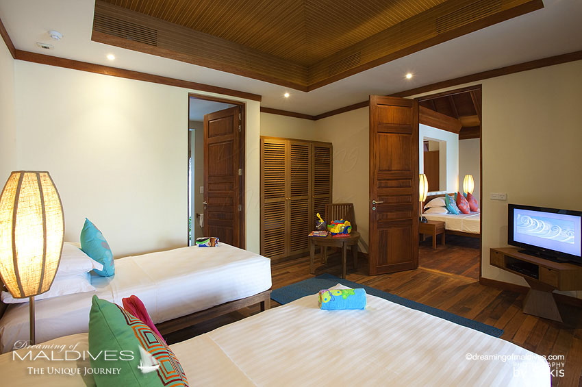 Anantara Dhigu Maldives Family Villa Kids Bedroom