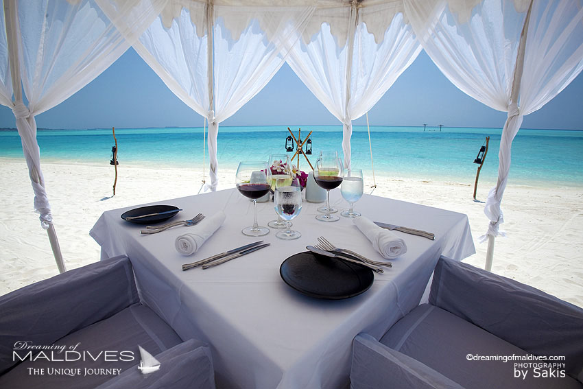 Anantara Dhigu Maldives Private Dining on The Beach