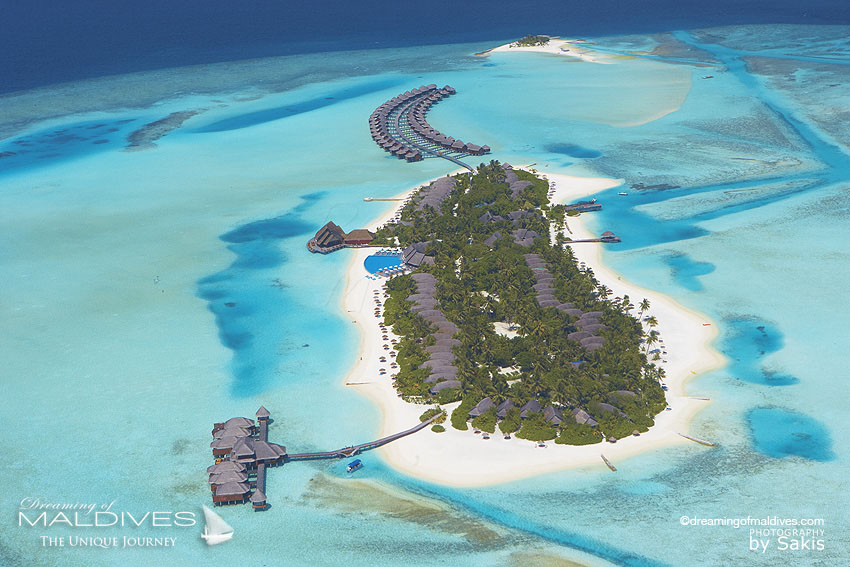 Anantara Dhigu Maldives Resort Aerial View