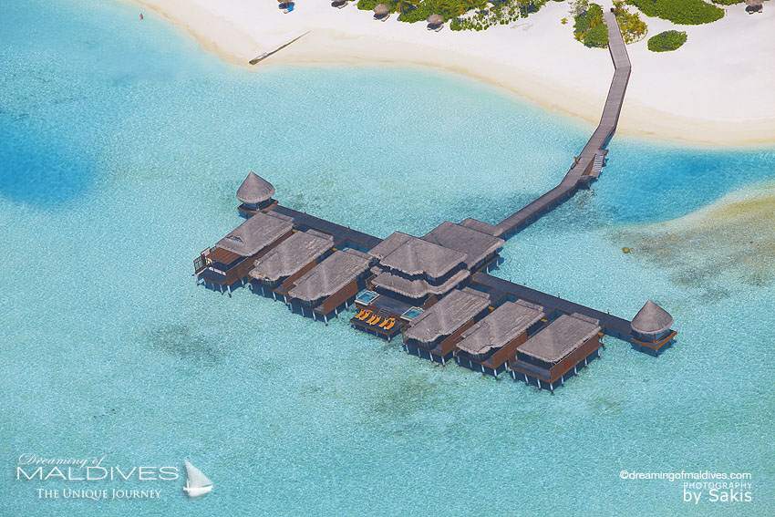 Anantara Dhigu Maldives Spa Aerial View