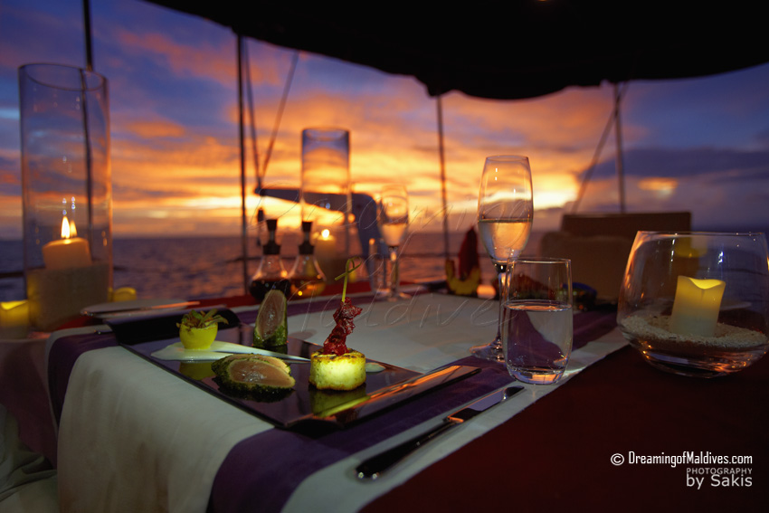 Anantara Kihavah Maldives - Private Dining on Kihavah Sailing Yacht
