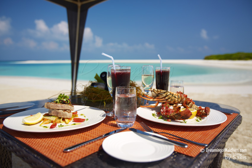 Anantara Kihavah Maldives - Lunch on the beach, Detail