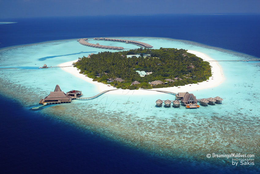 Anantara Kihavah Maldives - Resort Aerial View