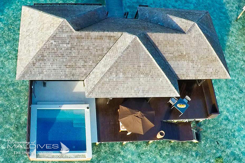 Lily Beach Maldives - water villa aerial view