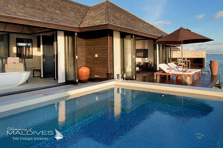Lily Beach Maldives - sunset water villa