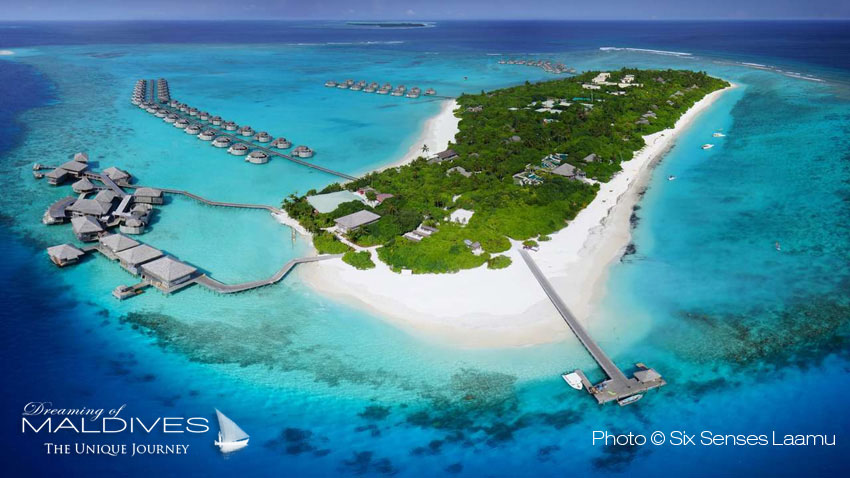 Six Senses Laamu Maldives - Island Aerial View