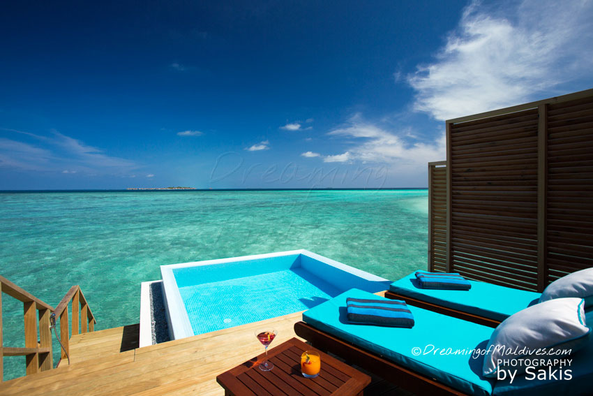 Velassaru Maldives - Lagoon Water Bungalow With Pool. The Pool and Lagoon View