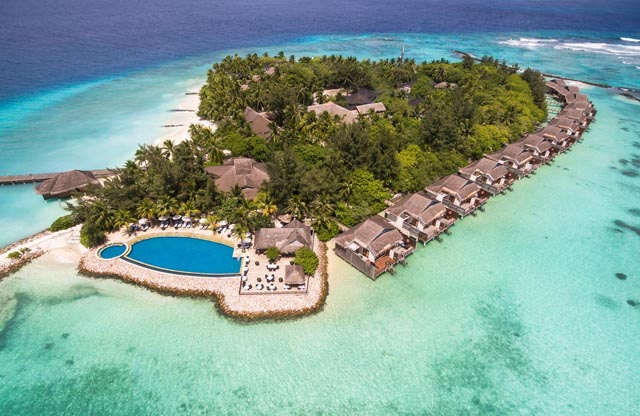 Full Map Of Maldives With Resorts Airports And Local