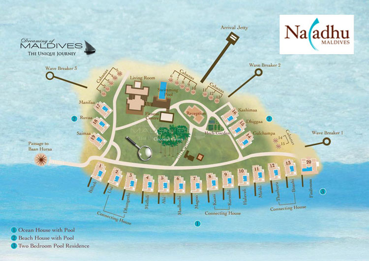 Naladhu Maldives Resort Map