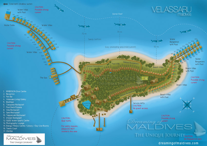 Velassaru Maldives Resort Map