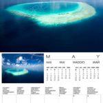 2020 Maldives Islands wall Calendar