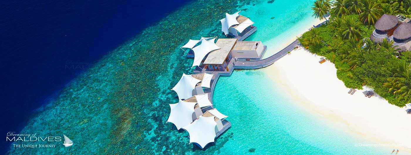 W Maldives Retreat & Spa Aerial view