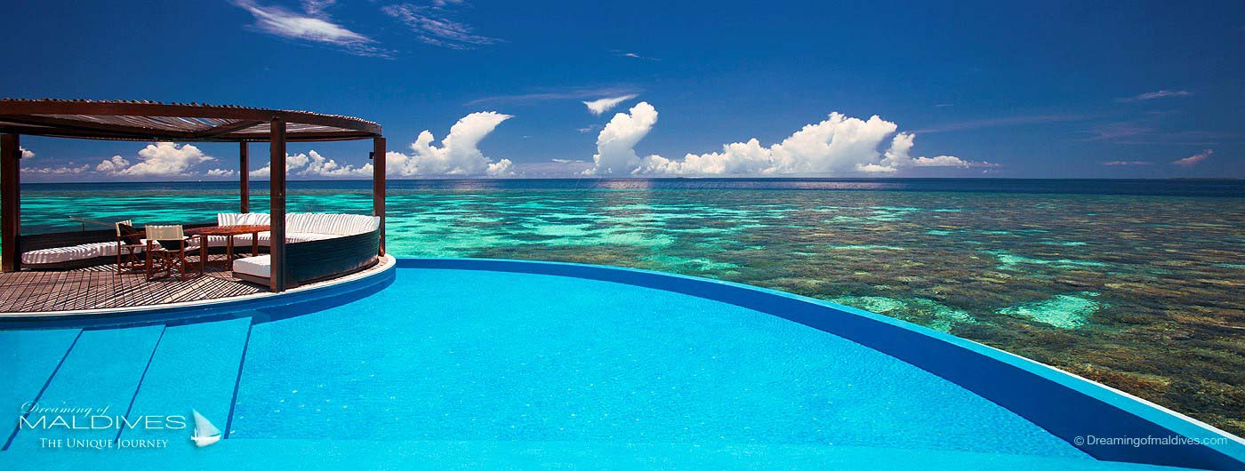 W Maldives Retreat & Spa over-water retreat infinity pool