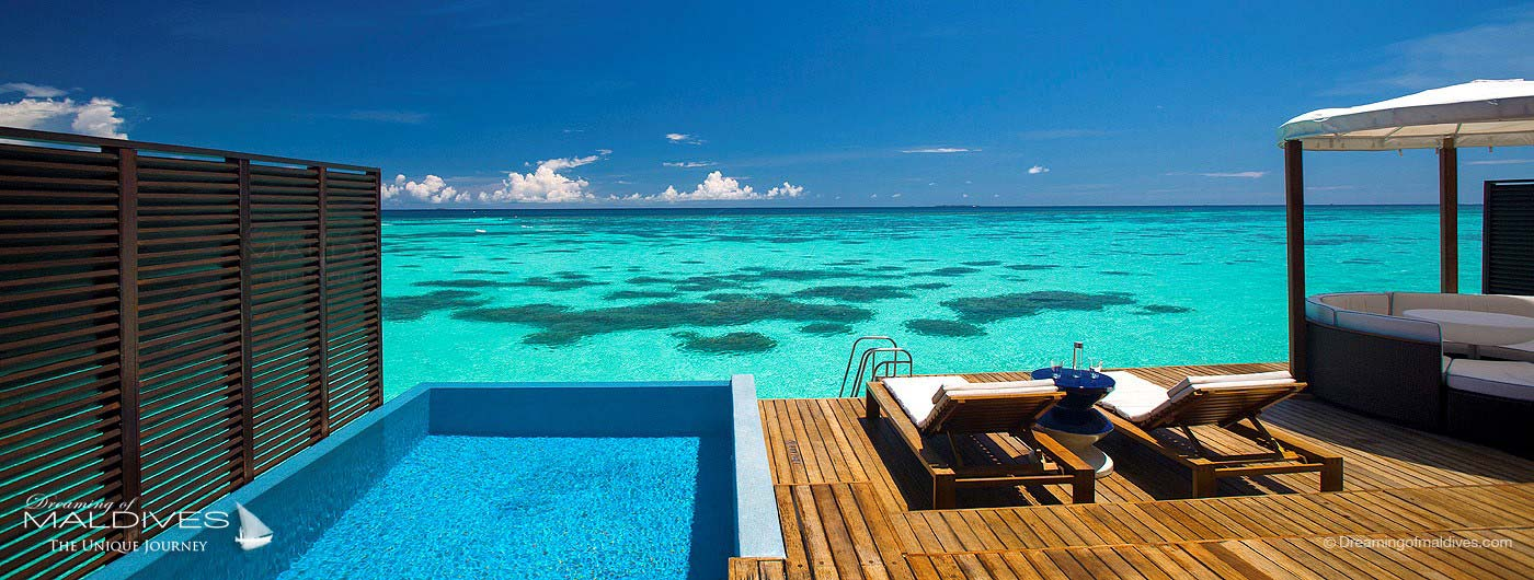W Maldives Retreat & Spa Retreat villa with pool and lagoon view