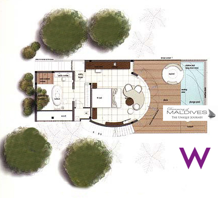 W Maldives Wonderful Beach Oasis Floor Plan