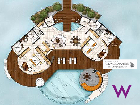 W Maldives Extreme WOW Ocean Haven Floor Plan